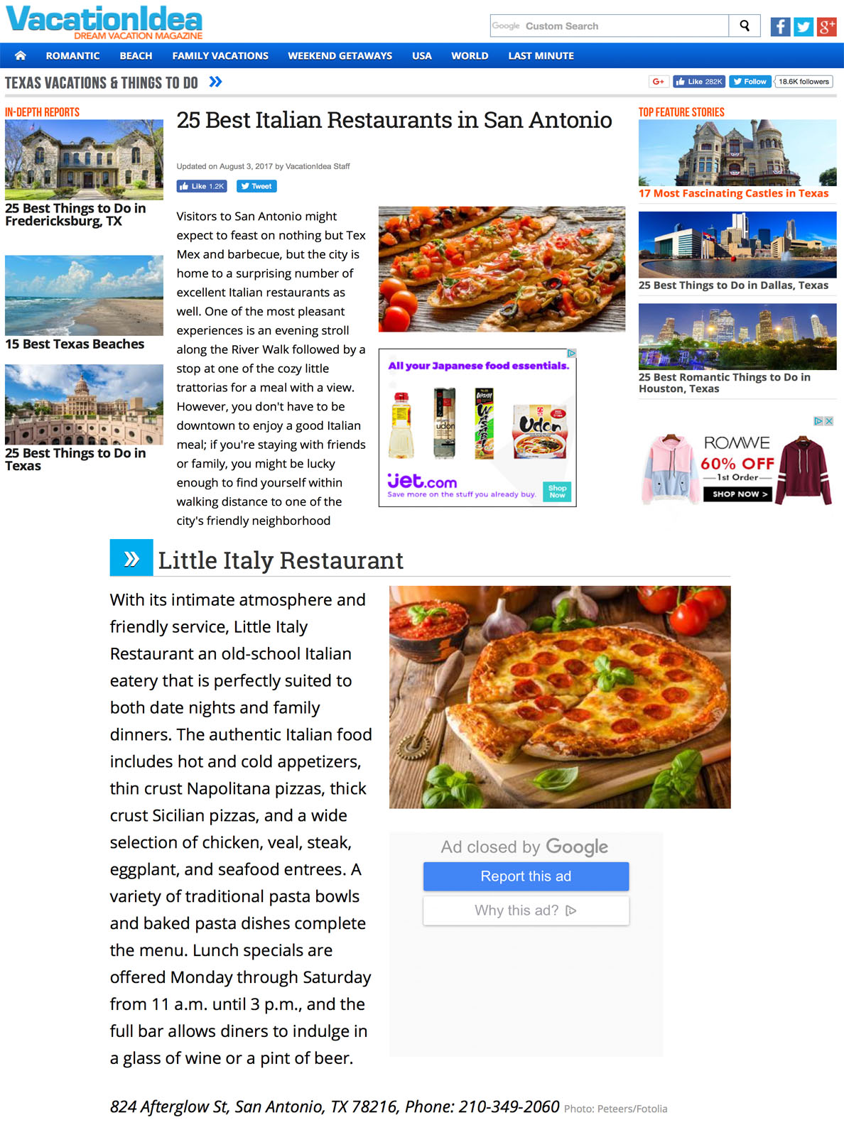 25 Best Italian Restaurants In San Antonio Little Italy Restaurant Pizzeria